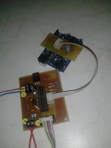 Arduino as a  AVR Atmega168 programmer