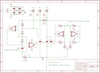 Chua's circuit schematic