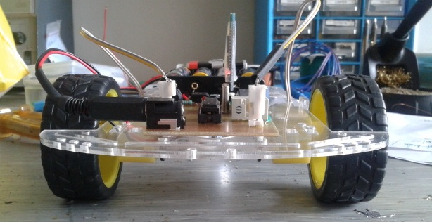 Arduino based, voice commanded, Android phone navigated