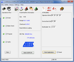 ..which you can program via Atmel's official tool called FLIP.