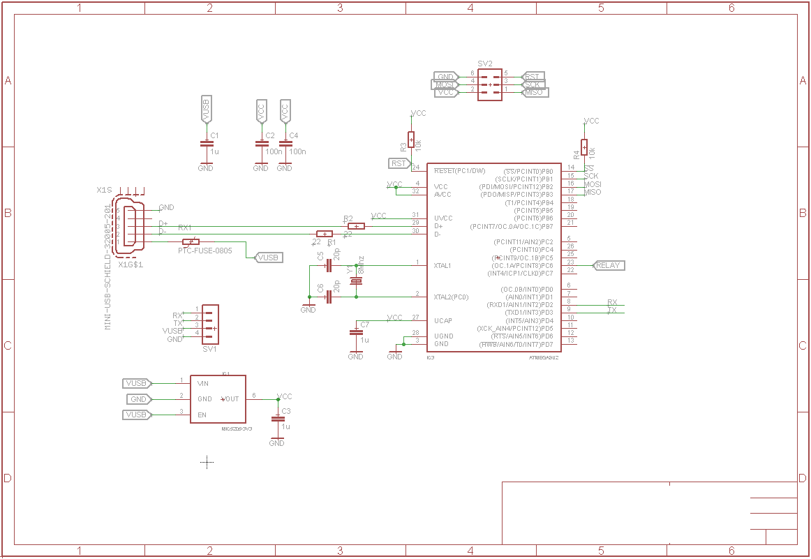 Getting Started With Atmega8u2 And Other Avr Usb Microcontrollers Port Schematic Simple Circuit It Has An Connector C Itself Some Components